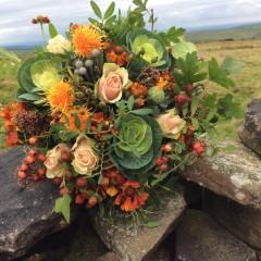bridal posy autumn